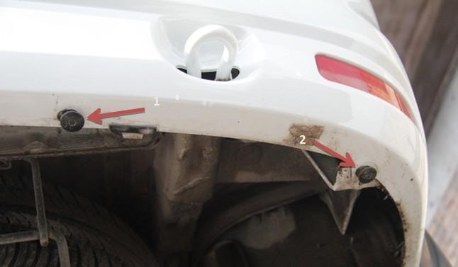установка защиты заднего бампера лада ларгус